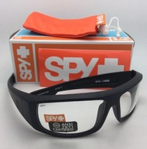 New SPY OPTIC Safety Glasses LOGAN Matte Black Frames w/ Clear ANSI Z87.... - $99.95