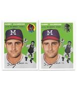 1954 Topps Archives Sammy Calderone Milwaukee Braves #68 Gold & Regular 2Cards - $1.29