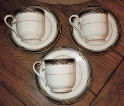 Noritake Spell Binder 6 Pc Piece Teacup & Saucer Set Fine Bone China 973... - $39.59
