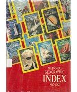 National Geographic Index, 1947-1983 Garrett, Wilbur E. - $2.89