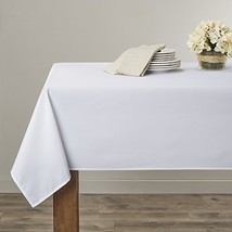 "Violet Linen Solid Liner Oblong/Rectangle Tablecloth, 60"" x 218"", White - $50.18"