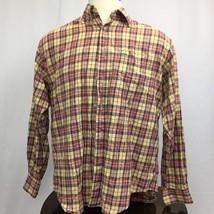 Tommy Hilfiger Polo Shirt  Mens M Medium Multi Color Collard Neck long sleeve - $15.52