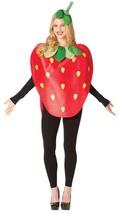 Strawberry Costume Adult Women Men Red Food Fruit Halloween Unique GC6189 - $54.99
