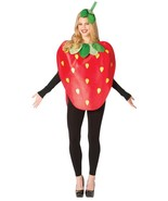 Strawberry Costume Adult Women Men Red Food Fruit Halloween Unique GC6189 - $54.99