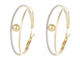 Double Hoop & Ball Earrings Hoops Jewelry Fashion Dangle Stylish Trendy ... - $19.99