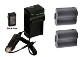 2 Batteries + Charger For Panasonic CGA-S006 CGA-S006A CGA-S006E CGA-S006E/1B - $31.45