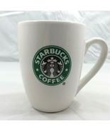 STARBUCKS 2007 CLASSIC Mermaid Logo Small 10.2 Oz Coffee White CURVED Cu... - $10.36