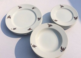 17 pieces Anglers Expressions  Floyd Broadbent Wildlife Bowls & Plates-2... - $42.74