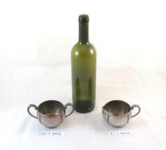 Milk Jug And Sugar Bowl IN Metal Monarch Plate Brand Vintage E.P.Copper ... - $63.73