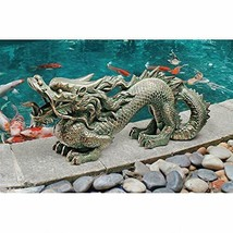 "21"" Asian Dragon GARDEN STATUE Great Wall Replica Outdoor Sculpture Deco... - £55.37 GBP"