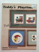 Teddys Playtime Dale Burdett  Bears Cross Stitch Pattern Book 1985 - $4.92
