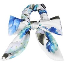 Elegant Cloth Bow-knot Hair Rope Ponytail Holders Hair Headwear(Sky Blue)