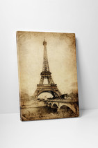 """Paris Eiffel Tower Vintage Poster Stretched Canvas Wall Art 30""""x20"""" or 20""""x16"""" - $44.50+"""