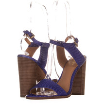 Coach Lexey Ankle Strap Sandals 481, Blue Snake, 9.5 US - $48.95