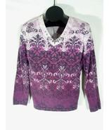 White Stag Womens Purple Shirt Long Sleeve Medium 8-10 F - $12.89