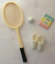 Vintage Barbie Tennis Anyone? #941 Racket, Ball & Tennis Rules Book  157-21 - $22.50
