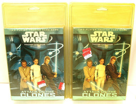 Two 2002 Star Wars Trading Card Game Attack Of The Clones Two Player WOTC Sealed - $14.01