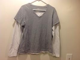 DANSKIN Grey-White Shirt Sz XXL