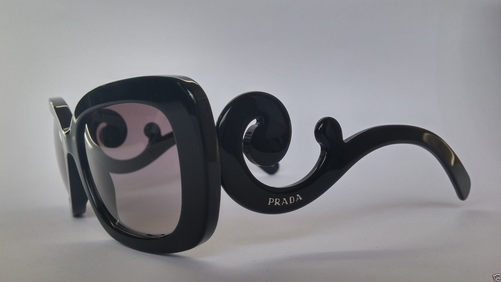 0e4345c3783907 Prada Sunglasses 27OS 1AB3M1 Minimal Baroque Black Grey Gradient 100%  Original
