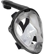 Deep Blue Gear Vista Vue Full Face Snorkeling Mask, Black/Clear Silicone... - $60.22