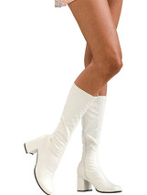 Secret Wishes Go-Go Boots, White, Medium - $63.69