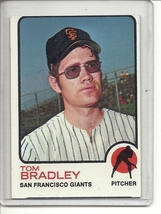 (b-31) 1973 Topps #336: Tom Bradley - Factory Error - off-set Cut - $5.00