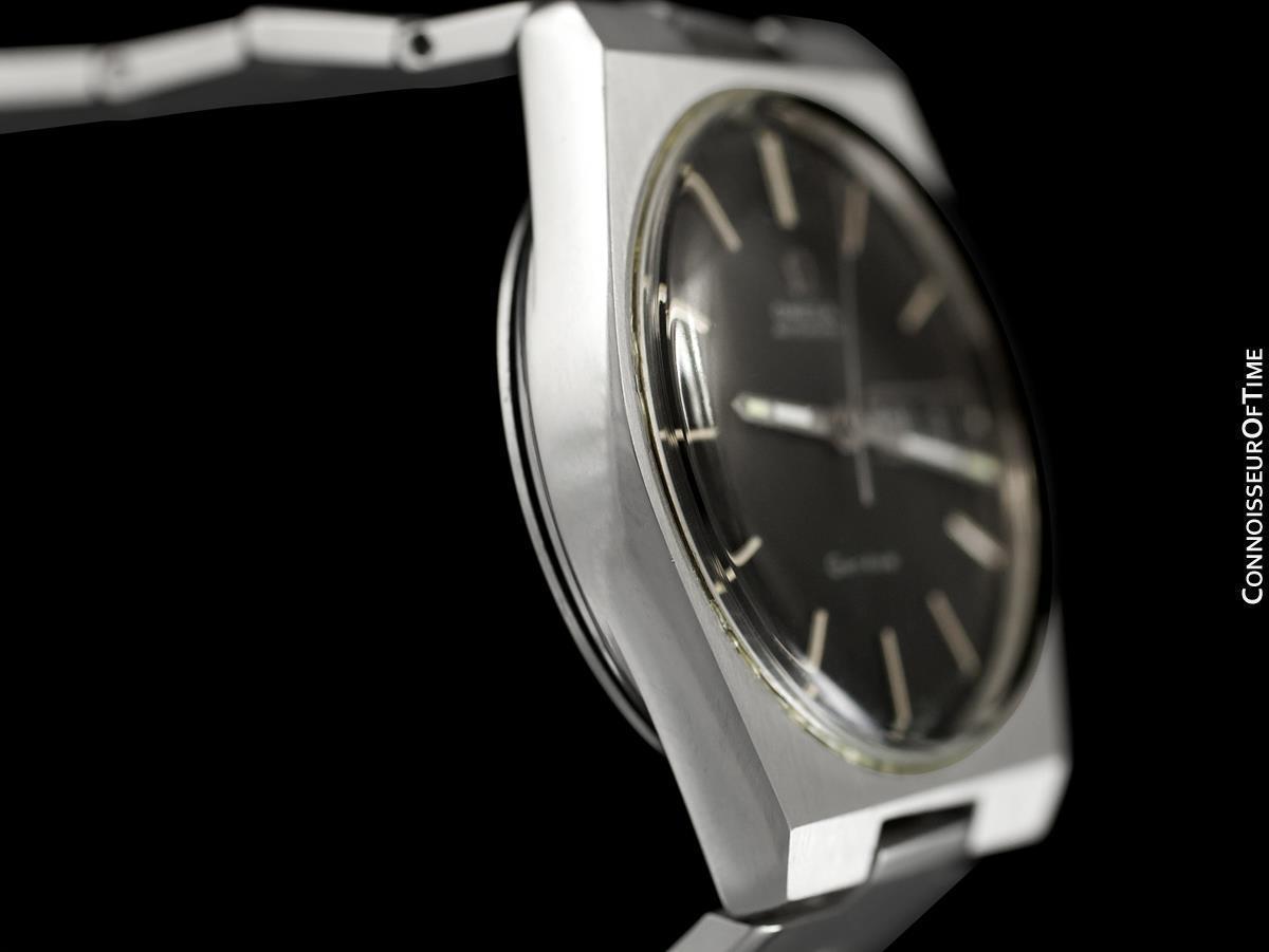 1974 OMEGA GENEVE Vintage Mens SS Steel Watch - Mint with Warranty