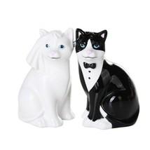 Wedding Cats Magnetic Ceramic Salt and Pepper Shaker Set - £10.04 GBP