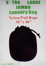 """Black 30"""" by 40"""" X-TRA Jumbo Laundry Bag Heavy Duty Drawstring Nylon - $7.99"""