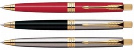 Parker Premium ASTER Gold Trim Ball Point Pen Choose from 3 Variants - $17.17