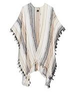 Designer Echo New York Brand Womens Boardwalk Stripe Ruana Beach Summer ... - $57.42