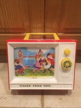Fisher Price Original Giant Screen Music Box TV 2 Tunes 2 Picture Story ... - $20.75