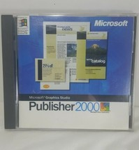 Microsoft Publisher 2000 Graphics Studio Software Disc Product Key PC To... - $14.84