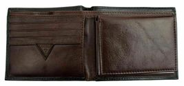 New Guess Men's Leather Credit Card Id Wallet Passcase Bifold Black 31GU22X018 image 8