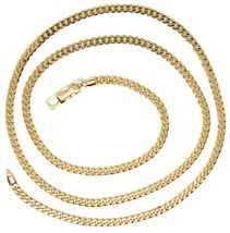 Chain Yellow Gold 750 18K, 50 CM, Groumette Flat, Thickness 2.8 MM, Full image 4