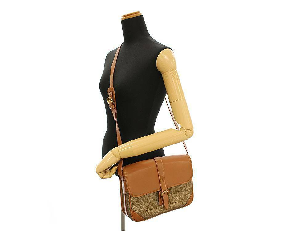 GUCCI Shoulder Bag Canvas Leather Brown 001 113 0613 Italy Authentic 5523375