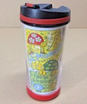 STARBUCKS COFFEE COMPANY DOT & DASH 2007 8 oz TRAVEL TUMBLER FLOWERS BER... - $23.86