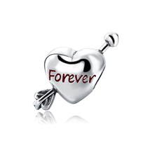 New Style Love Heart Sterling Silver Beads Fit Authentic Pandora Charms ... - $26.97
