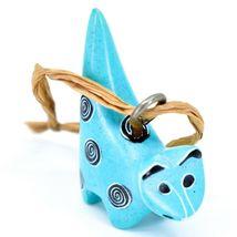 Tabaka Chigware Hand Carved Kisii Soapstone Light Blue Cat Ornament Figure image 4