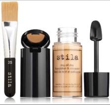 Stila Stay All Day Liquid Foundation 1.0 oz Concealer & Brush Kit Color ... - $19.52