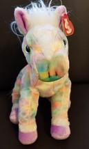 TY 2003 BEANIE BUDDY CLASSIC -  OPAL - THE PASTEL RAINBOW HORSE RETIRED ... - $15.33