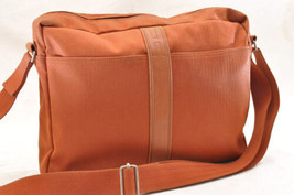 HERMES Acapulco Besace Coton Leather Orange Shoulder Bag Auth 5186 - $304.00