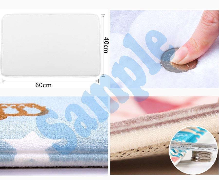 Cartoon Shower Curtain Waterproof Polyester Fabric & Bath Mat For Bathroom
