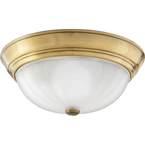 Quoizel ML183AUL Melon Flush Mount Ceiling Lighting, 2-Light, 150 Watts, Antique