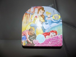Disney Princess On The Go Sidewalk Chalk & Stencil Kit Tin Carry Case NEW - $20.00