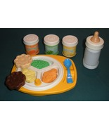 Vtg. Fisher Price Fun with Food #2150 Baby's Mealtime 99% Comp./NR MT-MI... - $60.00