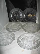 "(6) Cristal d'Arques Durand ANTIQUE Clear 10 1/4"" Dinner Plates - $19.99"