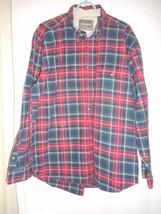 Wrangler Size XL Red Black Green Plaid Shirt 100% cotton button down collar - $22.76