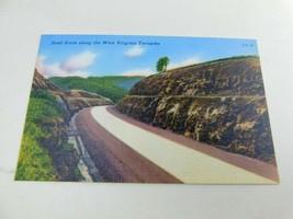 Sandstone Along Wv Turnpike Linen Postcard Tichnor Bros West Virginia TP-18 - $17.99