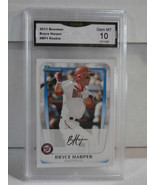 2011 Bowman Prospects #BP1 Bryce Harper Rookie GMA Grade Gem mt 10 - $54.44